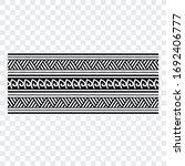 polynesian band tribal tattoo.... | Shutterstock .eps vector #1692406777