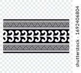 polynesian band tribal tattoo.... | Shutterstock .eps vector #1692406804