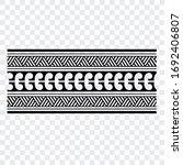 polynesian band tribal tattoo.... | Shutterstock .eps vector #1692406807