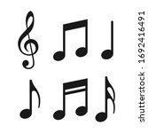 Music Notes Icons Set. Vector...