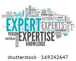 word cloud with expert related... | Shutterstock . vector #169242647