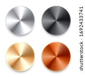 realistic metal chrome button.... | Shutterstock .eps vector #1692433741
