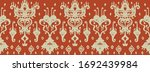 ikat geometric folklore... | Shutterstock .eps vector #1692439984