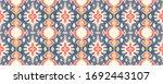 ikat geometric folklore... | Shutterstock .eps vector #1692443107