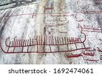 Bronze Age Rock Carving  ...
