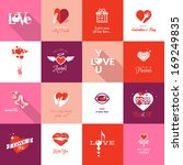 set of valentines day icons | Shutterstock .eps vector #169249835