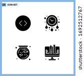 4 user interface solid glyph... | Shutterstock .eps vector #1692512767