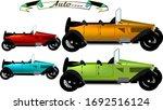 open top cars  1922 sample in... | Shutterstock .eps vector #1692516124