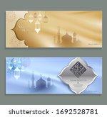 ramadan greetings banner design.... | Shutterstock .eps vector #1692528781