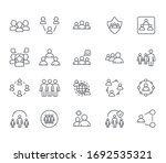 Set Of Crowd Related Vector...