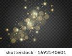 white sparks and golden stars...   Shutterstock .eps vector #1692540601