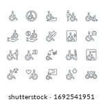 set of disabled people related...   Shutterstock .eps vector #1692541951