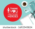 grateful thank you sign to... | Shutterstock .eps vector #1692545824