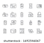 set of food cans related vector ... | Shutterstock .eps vector #1692546067