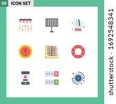 pictogram set of 9 simple flat...