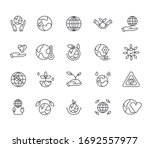 set of planet ecology related... | Shutterstock .eps vector #1692557977