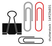 Paper Clip. Isolated Icons On...
