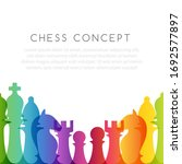 chess colorful leadership or... | Shutterstock .eps vector #1692577897