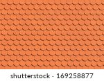 Red Roof Tile Pattern  Close Up
