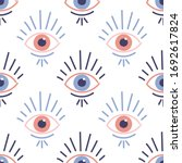 Seamless Pattern With Evil Eyes ...
