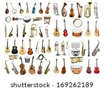 musical instruments isolated... | Shutterstock . vector #169262189