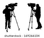 cameraman silhouettes | Shutterstock .eps vector #169266104