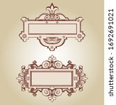 cartouche for an old... | Shutterstock .eps vector #1692691021