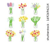 Bouquets Of Spring Flowers In ...