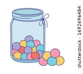 jar glass with balls candies...   Shutterstock .eps vector #1692696484