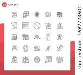 set of 25 commercial lines pack ... | Shutterstock .eps vector #1692723601