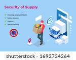 isometric delivery man or... | Shutterstock .eps vector #1692724264