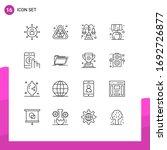 set of 16 vector outlines on... | Shutterstock .eps vector #1692726877
