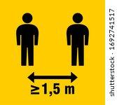 social distancing keep a safe... | Shutterstock .eps vector #1692741517