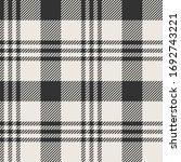 Black   White Twill Weave Plaid ...