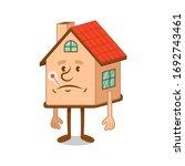 sick cartoon character of sad...   Shutterstock .eps vector #1692743461
