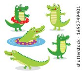 Cute Crocodile Character Sets ...