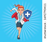 Super Female Doctor Running...