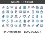 medical and healthcare icon set ... | Shutterstock .eps vector #1692802234