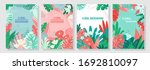 vector set of floral design... | Shutterstock .eps vector #1692810097