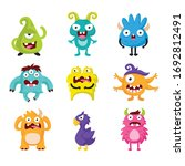 cute cartoon monsters. set of... | Shutterstock .eps vector #1692812491