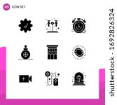 pack of 9 creative solid glyphs ...
