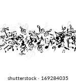 music background with flowing... | Shutterstock .eps vector #169284035