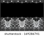 lace fabric seamless pattern... | Shutterstock .eps vector #169286741