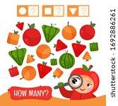 counting educational children... | Shutterstock .eps vector #1692886261