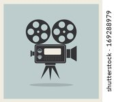 video movie camera on retro... | Shutterstock .eps vector #169288979