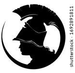 A Profile Silhouette Of A Greek ...