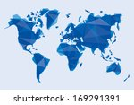 blue map of the world in... | Shutterstock .eps vector #169291391