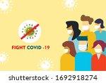 coronavirus covid 19 is...   Shutterstock .eps vector #1692918274