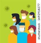 coronavirus covid 19 is...   Shutterstock .eps vector #1692918277