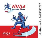 Ninja Cleaning Service Mascot...